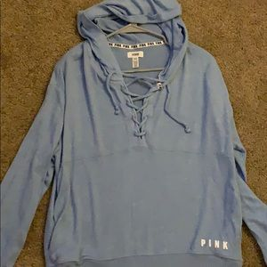 Blue PINK pull over